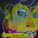 564, Singer, Hvězdokupa, kombinovaná technika na plátně 80x80, 2013