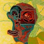 605, Singer, Vidím tě, kombinovaná technika na papíře 50x35, 2013
