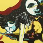 698, Singer, Díra, kombinovaná technika na plátně 50x60, 2013
